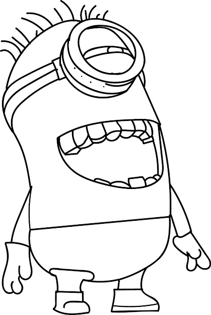 Colouring Pages For Minions  Top Minion Laugh Coloring Page With Minion  Coloring Pages