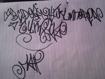 Sketch Graffiti Alphabet Paper Letter A Z