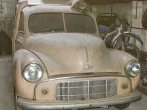 Abandoned early Morris Split screen van in Malta