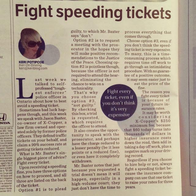 Fighting A Speeding Ticket >> Fight Every Speeding Ticket - KeriBlog