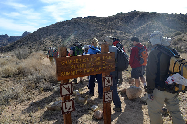 trailhead for Chaparrosa Peak