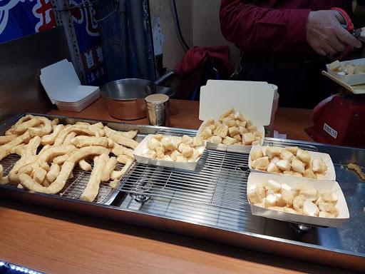 Fried squid at Fengjia Night Market Taiwan