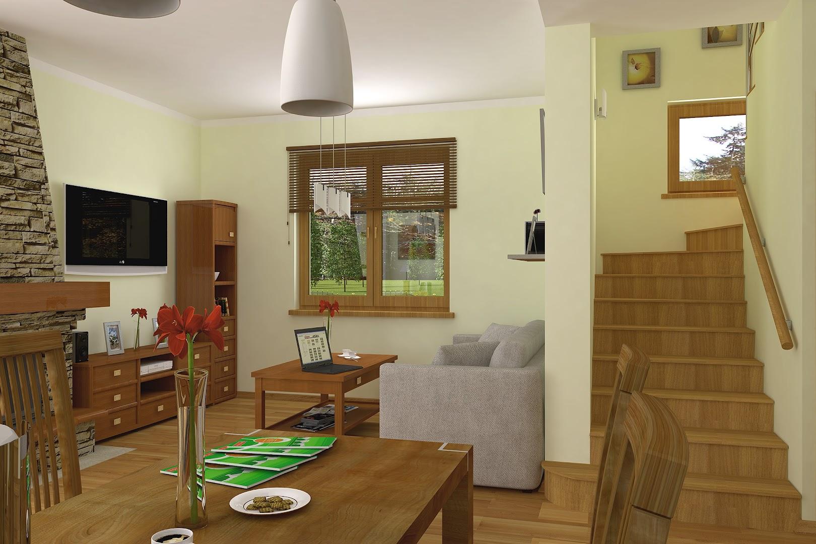 Projekt domu Agatka z garażem 1 st A (TJW 352)  81 8m² -> Kuchnia Letnia Z Garażem