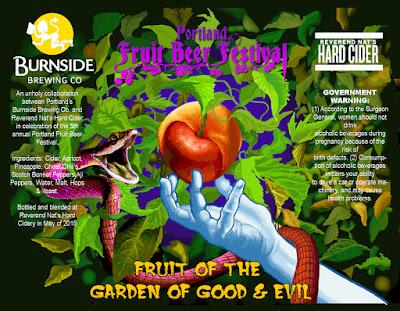Portland Fruit Beer Festival bottle label for Fruit of the Garden of Good and Evil