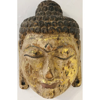Carved and Gilded Buddha Head