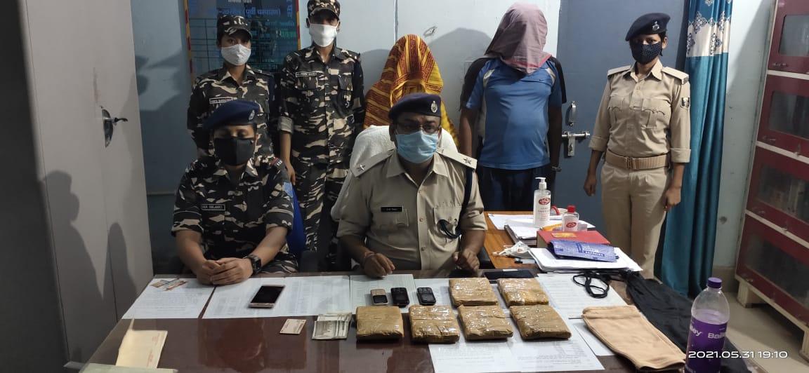 मोतिहारी पुलिस का ताबातोड़ एक्शन मोड़ ऑन, रक्सौल में तीन किलो चरस के साथ दो तस्कर गिरफ्तार