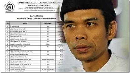 ustad abdul somad dan daftar penceramah