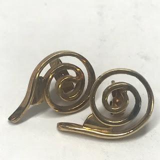 10K Gold Spiral Earrings