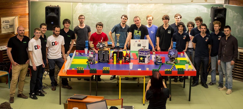 1ere place pour IGrebot à la  Coupe Rhône Alpes de robotique 2015
