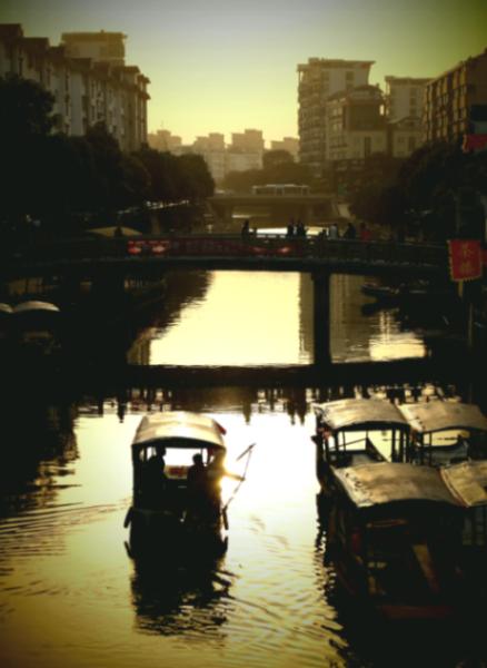 As the Sun Sets over Qibao