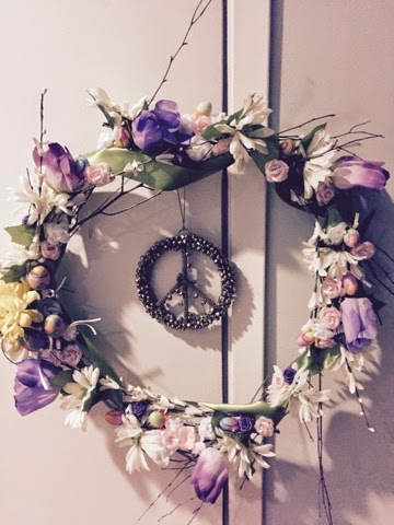 wreath, DIY, Easter, spring
