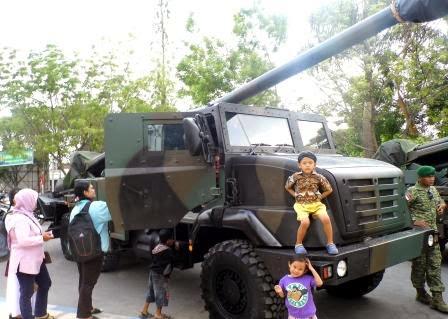 berita terkait pameran alutsista TNI Kabupaten Ngawi