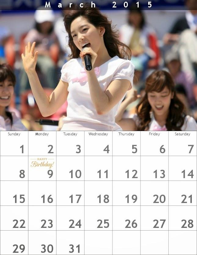 幼いテヨンのカレンダー2015/03