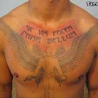 chest angel and demon tattoo