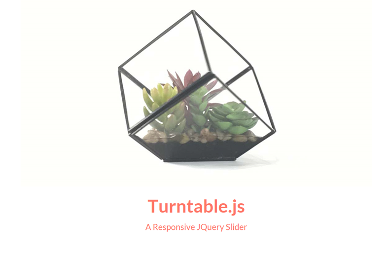 Turntable.js, plugin de jQuery para hacer sliders responsivos
