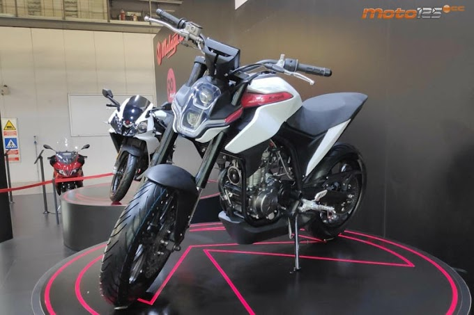 A giant motorcycle Malaguti Drakon 125 latest patent revealed before production.