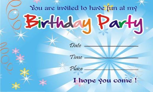 Birthday Invitation Card wblqualcom
