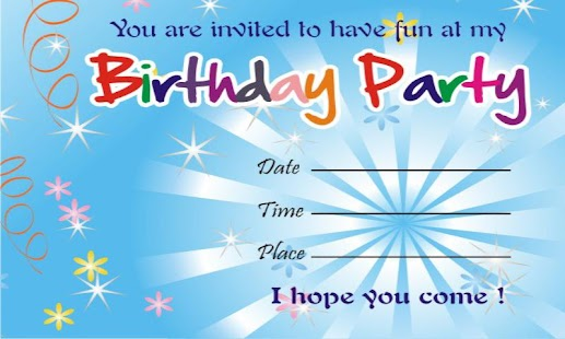 birthday invitation cards - android apps on google play, Birthday invitations