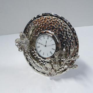 Michael Aram Black Orchid Mini Clock
