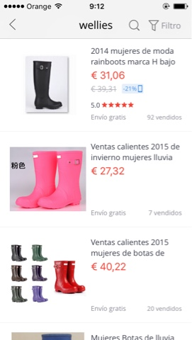 Hunter en Aliexpress.
