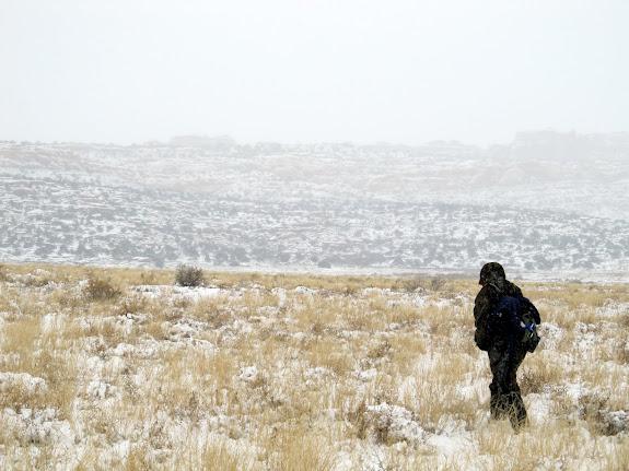 Alan hiking in Salt Valley