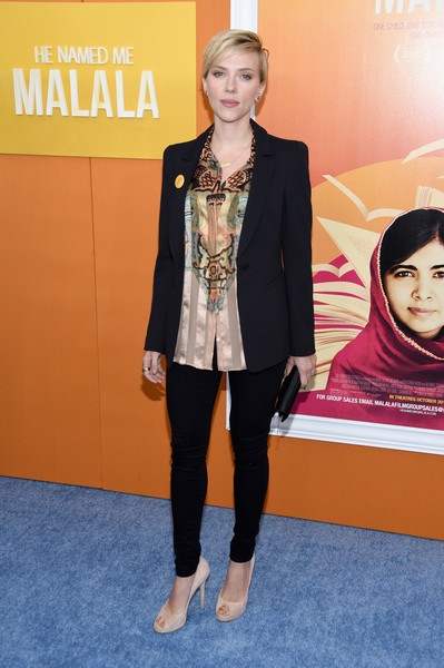 Scarlett Johansson Named Malala New York Premiere