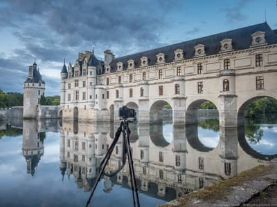 VEO tripod at Chenonceau Castle France