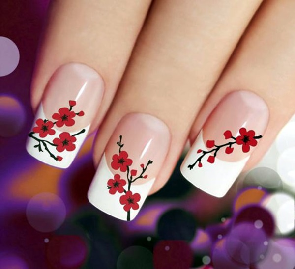 Latest Flower Nail Art Desgins Ideas In 2018 1