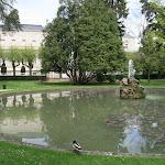Jardin et hôtel Durzy : grand bassin