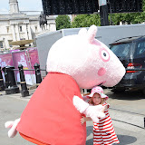 WWW.ENTSIMAGES.COM -   Peppa Pig  at    Get Reading festival at Trafalgar Square, London Organised by the Evening Standard in partnership with e-reader firm NOOK July 13th 2013                                             Photo Mobis Photos/OIC 0203 174 1069