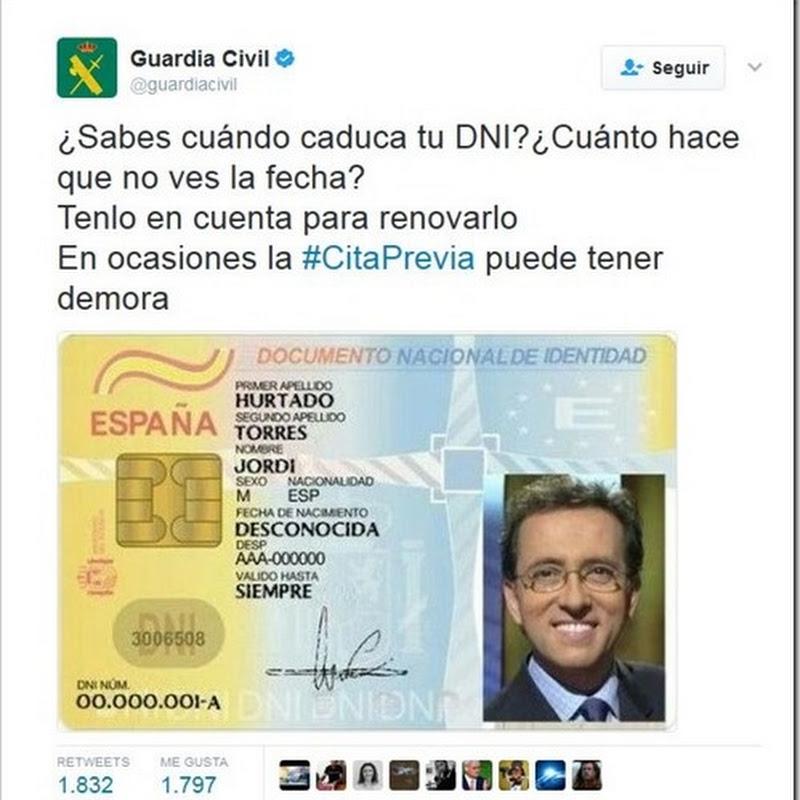 Por qué la guardia civil publica el DNI de Jordi Hurtado