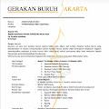 Gerakan Buruh Jakarta (GBJ), Demo Penolakan Omnibus Law