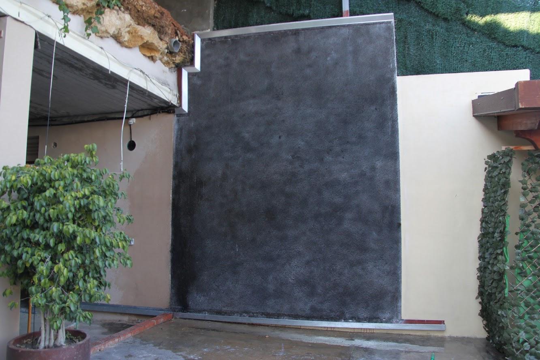 Jardín vertical pintado sustrato