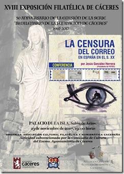 CARTEL CONFERENCIAS EXPOSICION JESUS