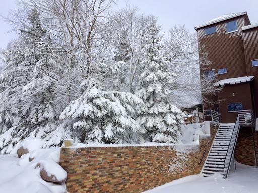 Winter scene near the lodge