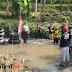 Kepolisian dan Warga Gelar Apel Diatas Aliran Sungai Cibodas Parungkuda