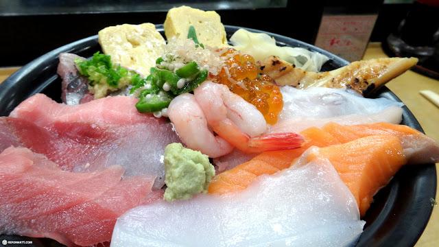 chirashi bowl of fish in Tokyo, Tokyo, Japan