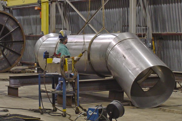 Large ductwork stack fabrication systems fab machine