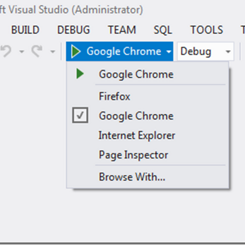 Munna on .net: WOW, We can now debug browser specific right from our VS