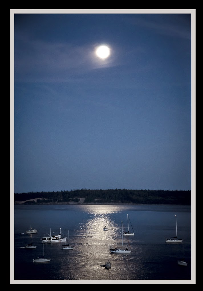 """Super Moon Harbor"" by Valerie Henschel -- 2nd Place Digital General A"