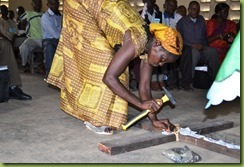Mweka seminar - woman nailing to cross2