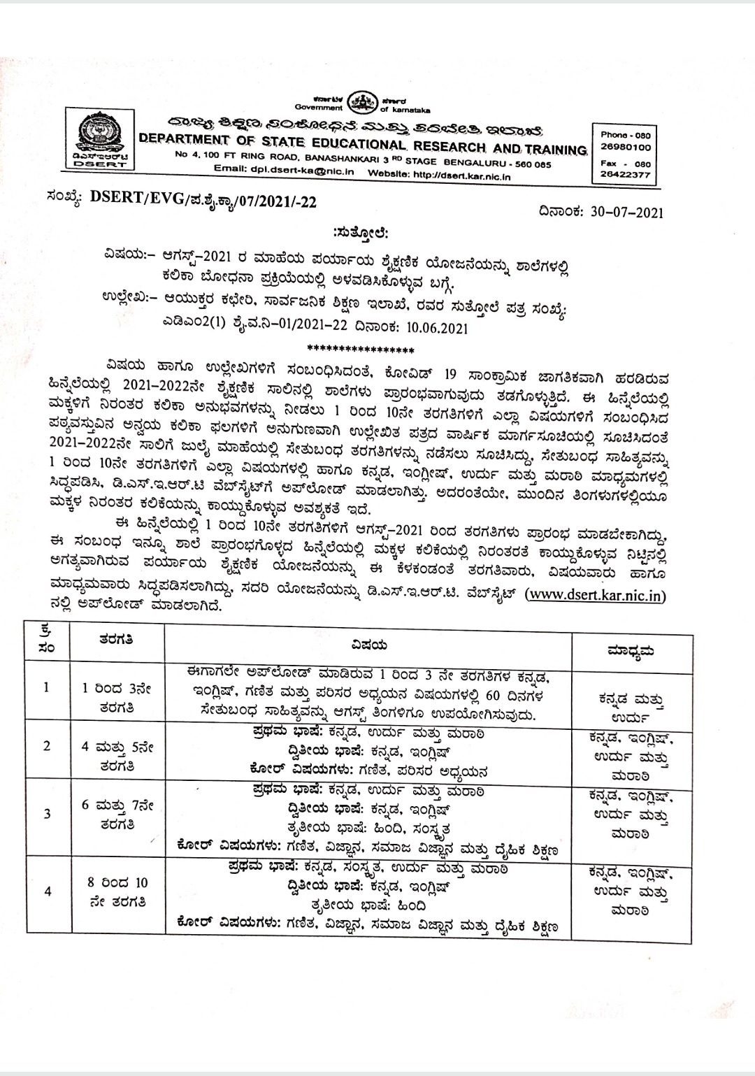 Aug-21: MAHE's Alternative Education Scheme for Engaging in the Learning Teaching Process