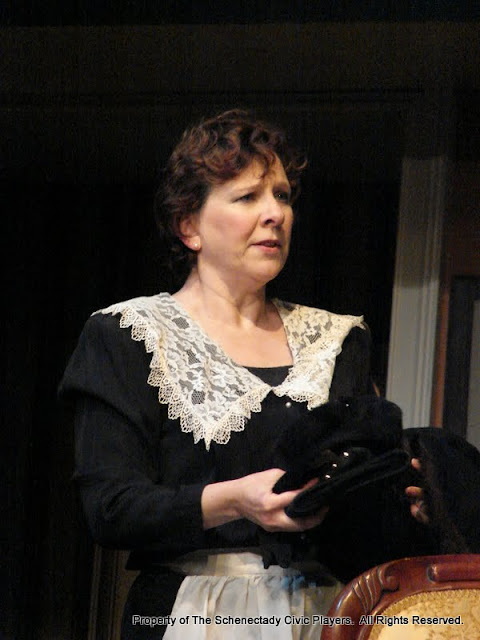 Jean Carney in THE ROYAL FAMILY (R) - December 2011.  Property of The Schenectady Civic Players Theater Archive.
