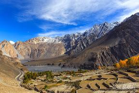 A Winter's Morning view in Gulmit Village & newly built Karakorum Highway,