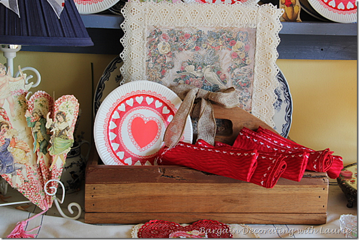 Toolbox with Valentine Decor