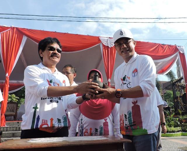 Gowes Pesona Nusantara Bersama Bupati Ngawi