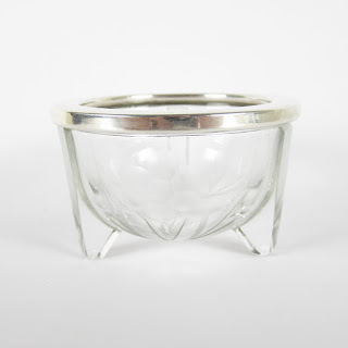 Sterling Silver and Glass Salt Cellar
