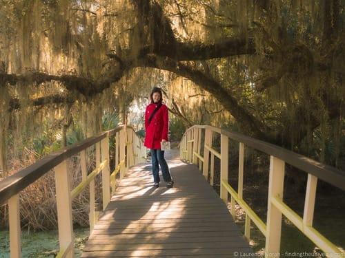Girl on bridge Magnolia Plantation Charleston