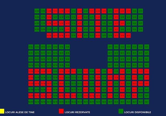 """""""Site scump"""", mesajul scris cu scaune rezervate pe site-ul cumpărat la suprapreț de viceprimarul PNL Lucian Harșovschi pentru Cinematograful Modern"""