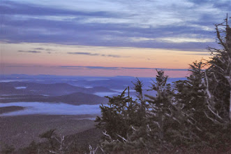 Photo: Mount Mansfield at daybreak from Underhill State Park